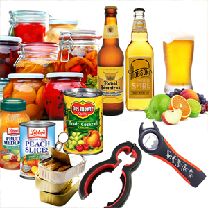 Jar Opener, 5 in 1 Multi Function Can Opener Bottle Opener Kit with Silicone Handle Easy to Use