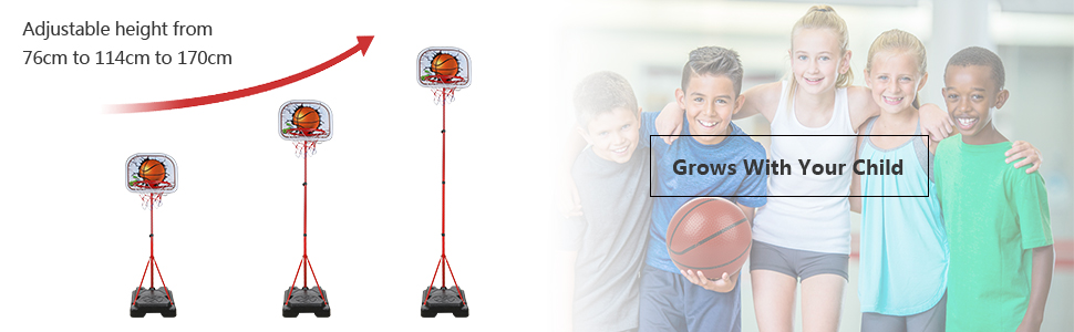 verstelbare basketbalset
