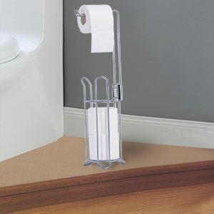 Toilet Paper Holder Toilet Tissue Paper Roll Holder Toilet Paper stand Free Standing Paper holder