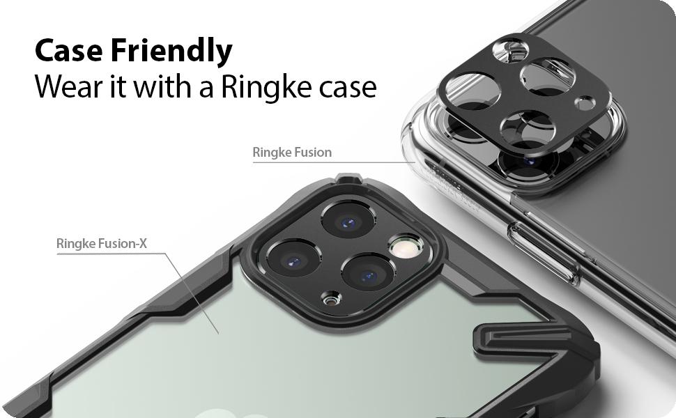 Ringke Camera Styling Aluminum Frame Camera Lens Protector Ring Designed for Both iPhone 11 Pro