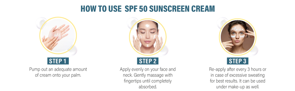how to use spf 50 sunscreen lotion