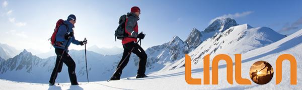Men's Snow Ski Fleece Pants Fleece Lined Soft Shell Outdoor Waterproof Hiking Bottoms