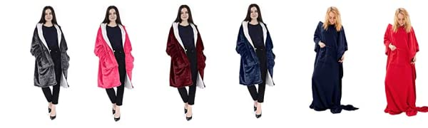 Reversible Comfort Hoodie Blanket Sweatshirt