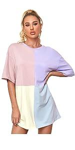 Colorblock Tshirt Dress