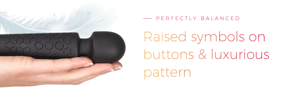 perfectly balanced raised symbols on buttons and luxurious pattern for grip lightweight