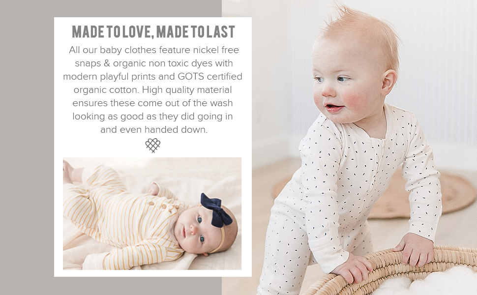 Organic cotton baby clothing bodysuit kimomo romper zippered button romper sleep gown knotted onesie