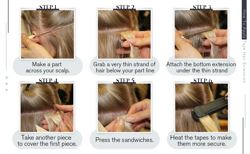 human hair tape ins
