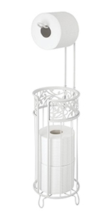 Metal Toilet Tissue Reserve Plus in White