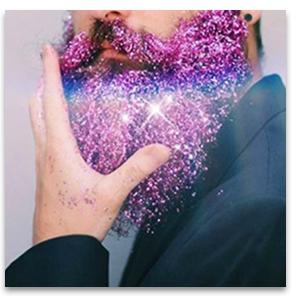 glitter for beards