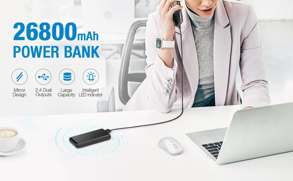 Mini-Sized 26800mAh Power Bank