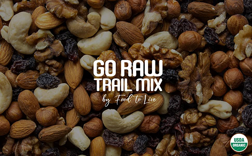 nut and berry trail mix food to live