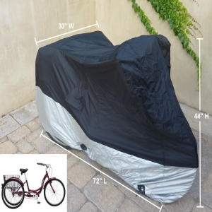 tricycle cover schwinn bike westport bicycling travel outdoors protection coverage dust free