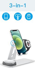 soporte para móvil, Apple Watch y AirPods