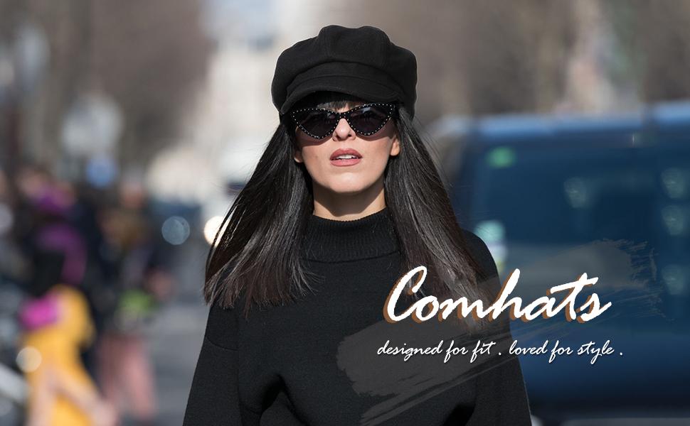 comhats newsboy cap for women