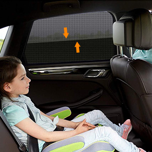 Noir Installation Facile 2 Pi/èces Chaussette Voiture Soleil Bloquer les Rayons UV Compatibles avec la Plupart des V/éhicules OSAH DRYPAK Pare-Soleil Voiture B/éb/é Prot/égez Votre Enfant et Animaux