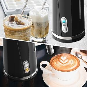 Ourine PRODUKT Espumador de Leche Espumador de caf/é Batidor el/éctrico Latte Cappuccino Burbujeador de Leche de Mano para Batido de Huevos Chocolate Caliente