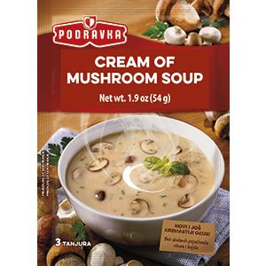 Podravka cream of mushroom soup vegetable vegan warm