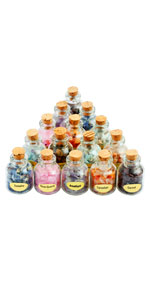 9 Gemstones Wicca Bottles