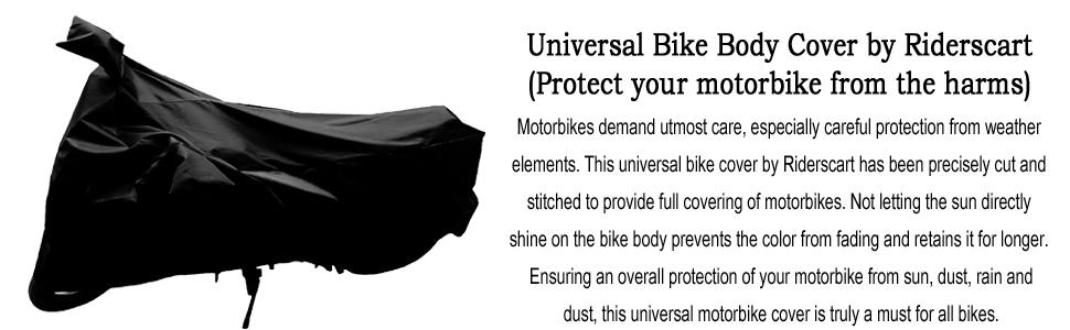 universal black waterproof bike cover