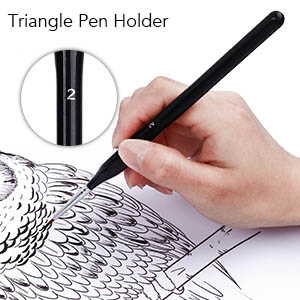 Triangle pen holder