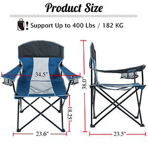 quick folding travel chair for sporting events field chairs for adults lawn chairs with carrying bag