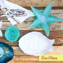 vietri pesci colorati glass serving ware platter coastal beach sea fish plates bowl pitcher tray mug
