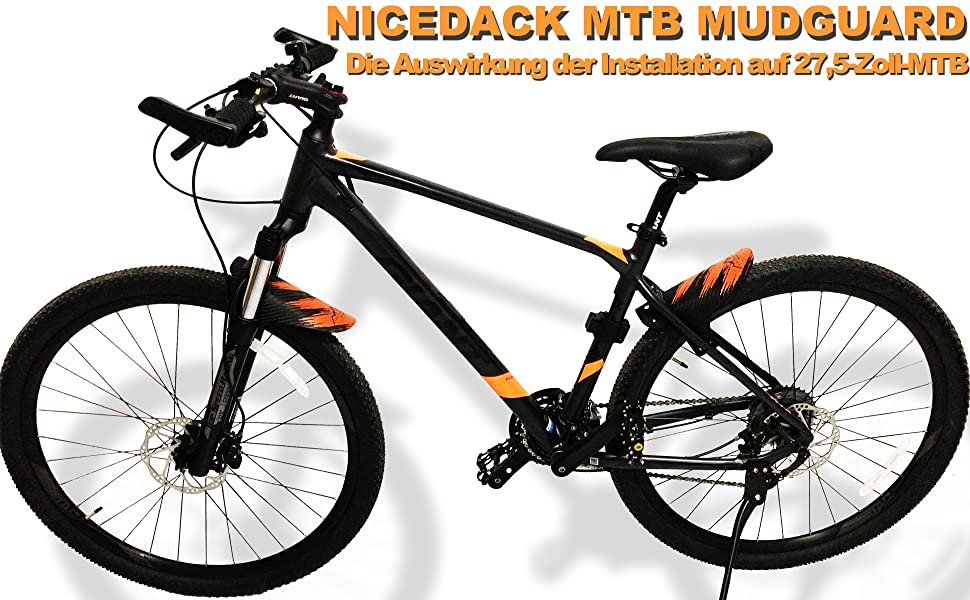 MTB Bike Cycling Fahrrad Fender Mudguard Vorderseite Kotflügel Schutzblech Neu