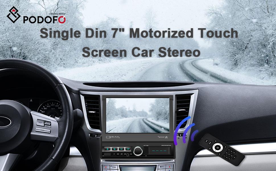 podofo single din car stereo