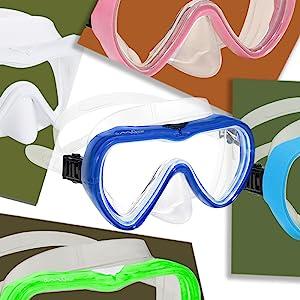 blue diving mask scuba diving mask snorkeling mask