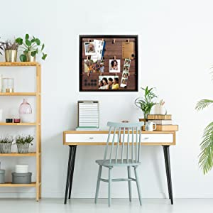 frame collage magnetic multi picture polaroid display rustic card holder hanging wall white magnet