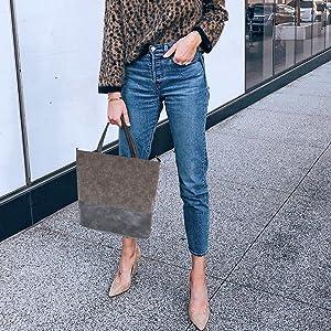 Suede PU Leather Casual School Bag