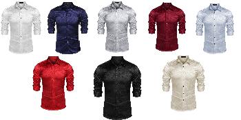 camisas para hombres silk shirts for men mens party shirts designer shirts for men