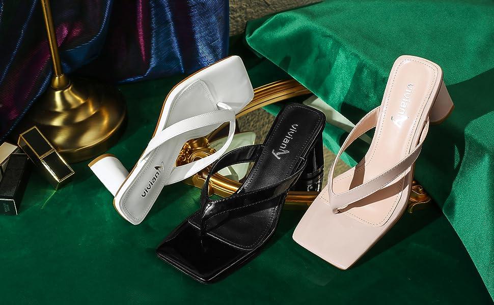 vivianly heel mules