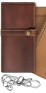 jofelo leather journal thick leather leather bound sketchbook  address book vintagepastor leather