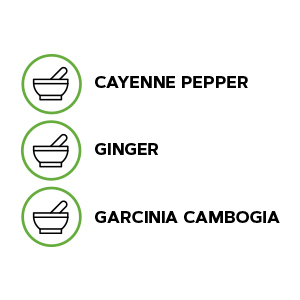 4.Includes cayenne pepper, ginger and garcina cambogia