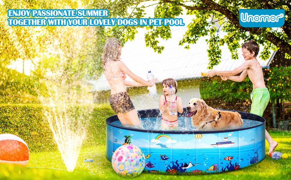 Unomor foldable pet swimming pool