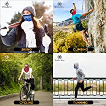 lifestyle ski bicycle cycling running climbing balaclava bandana half adult fish sport athletic tube