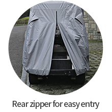rear zipper