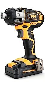 impact driver cordless brushless 20v 12v torque battery charger lithium ion set combo screw gun