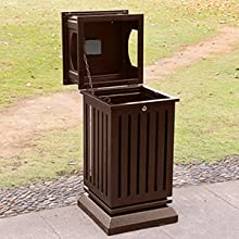 outdoor trash can large capacity
