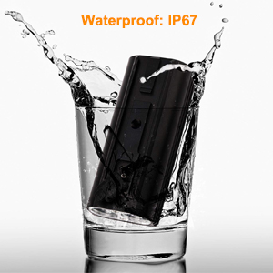 IP67-rated water resistant