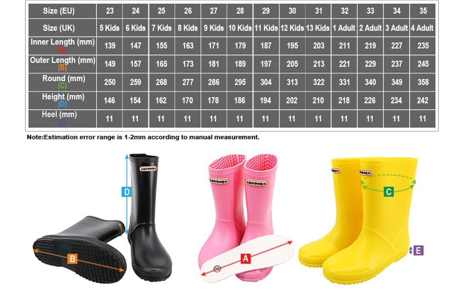 Leopard UK 5-UK 13 Girls Pink Kids Wellington Boots Rain Wellies Boots Motocross
