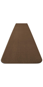 House Home and More Carpet Runner Skid-Resistant Hallway Pet Friendly Toffee Brown