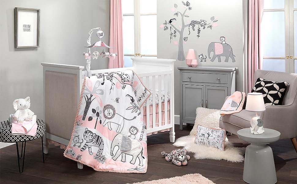 Happy Jungle Crib Bedding Set