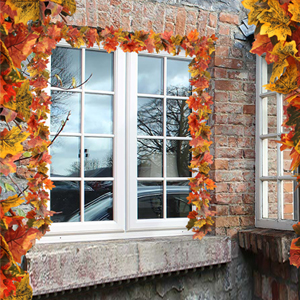 2 Pack Fall Maple Garland - 5.9ft/Piece Artificial Fall Foliage Garland Colorful Autumn Decor
