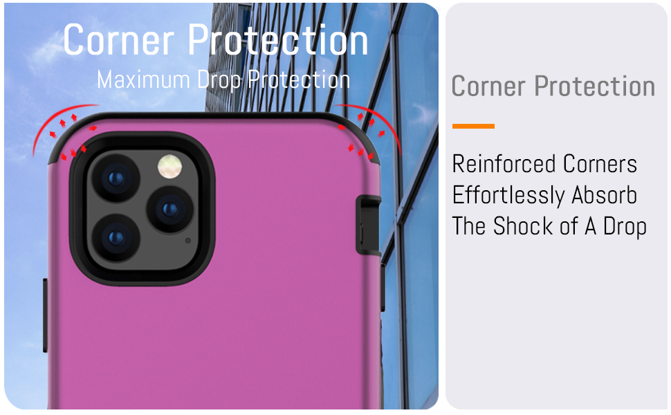 """iPhone 11 Pro 5.8"""" Heavy Duty Case Cover With Enhanced Drop and Shockproof Corner Protection"""