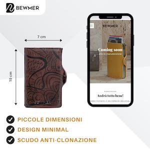 scomparti portamonete pelle rfidnfc slim tasche cardslide blocco cardprotector deluxe