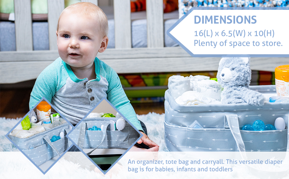 diaper baby organizer caddy storage nursery portable basket bin shower car gift table rope bag