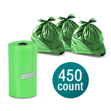 Nobleza Sacchetti Cane Sacchetti per bisogni dei Cani Sacchetti igienici 450-count 30 Sacchetti a Rotolo Color Verde