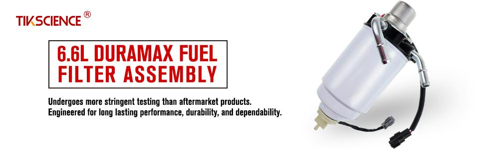 6.6L Duramax 12642623 Fuel Filter Head TP3018 Fuel Filter for Chevrolet Chevy Silverado Sierra